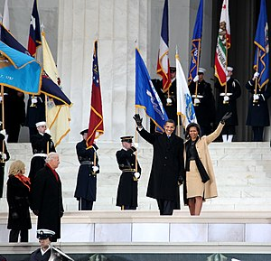 We Are One: The Obama Inaugural Celebration at the Lincoln Memorial - Barack Obama and Michelle Obama at the We Are One concert event
