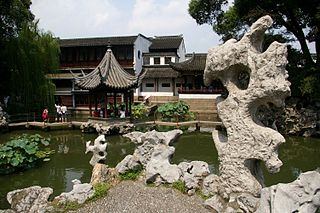 Chinese garden in Suzhou