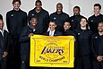 2010 NBA Champion Los Angeles Lakers with President Barack Obama