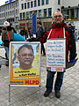 2013-03-30 Ostermarsch Hannover vom Kröpcke aus, Kurt Kleffel und Wahlplakat der MLPD.jpg