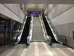 2015-04-14 00 17 35 Stairs and escalator in the corridor connecting Concourse E with Concourse D in Salt Lake City International Airport, Utah.jpg