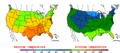 2015-10-07 Color Max-min Temperature Map NOAA.png