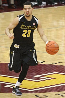 Fred VanVleet, the Shockers' all-time leader in assists and steals. 20150111 Fred VanVleet (3) cropped.jpg