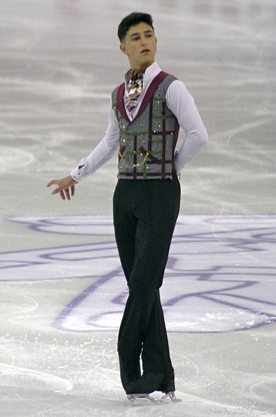 Daniel Samohin held the second best free program score.