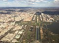 2016-03-18 16 41 44 View of Washington, DC from an airplane departing Ronald Reagan Washington National Airport, with the intersection of Constitution Avenue and 15th Street NW at the center.jpg