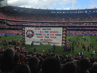 2016 AFL Grand Final - Image: 2016 AFL Grand Final Bulldogs banner 2