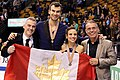 2016 Worlds - Duhamel & Radford victory ceremony - 02.jpg