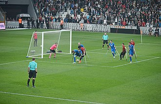 Amputee football - Image: 2017EAFCfinal TU Rvs ENG (46)