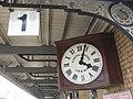 2017 at Newark North Gate - old clock on platform 1.JPG