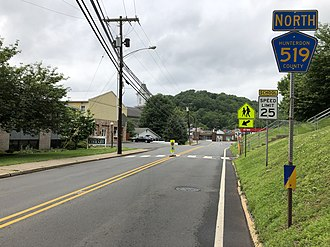 Milford, New Jersey - CR 519 in Milford