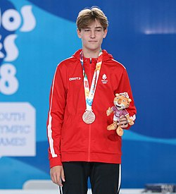 2018-10-09 Victory ceremony (Boys foil) at 2018 Summer Youth Olympics by Sandro Halank–013.jpg