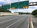 2019-06-18 15 24 14 View south along Interstate 270 (Washington National Pike) at the exit for Interstate 270 Spur (TO Interstate 495 SOUTH, Washington, Northern Virginia) on the edge of Potomac and North Bethesda in Montgomery County, Maryland.jpg