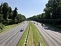 2019-07-12 10 22 15 View northeast along Interstate 495 (Capital Beltway) from the overpass for Fernwood Road on the edge of Bethesda and North Bethesda in Montgomery County, Maryland.jpg