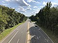 2019-09-02 16 35 12 View south along U.S. Route 1 (Jefferson Davis Highway) from the overpass for Russell Road in Marine Corps Base Quantico, Prince William County, Virginia.jpg