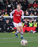 Vivianne Miedema playing for Arsenal