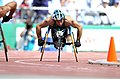 231000 - Athletics wheelchair racing 800m heat Paul Nunnari action 2 - 3b - 2000 Sydney race photo.jpg