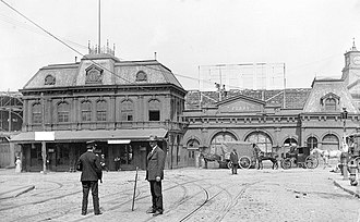 23rd Street (Manhattan) - The 23rd Street Ferry Terminal at the western end of the street in 1900