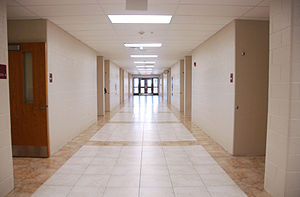 Montini Catholic High School - Inside 300 Corridor, West Wing