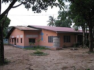 Christianity in Laos - Catholic Training Center in Thakhek.