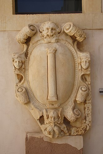 Marcantonio Colonna - The Colonna coat of arms, from the Palazzo Bellomo in Syracuse.