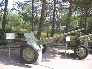 45 mm anti-tank gun M1942 (M-42) - M-42 in Museum on Sapun Mountain, Sevastopol.