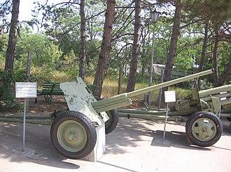 45 mm anti-tank gun M1942 (M-42) - M-42 in Museum on Sapun Mountain, Sevastopol.