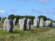 4735.1099 Menhire,bis zu 4 Meter hoch,von OstnachWest in 1167 Meter Langen Alignements(Granit-Steinreihen) in einem Halbkreis endend Le Ménec,Carnac ,Departement Morbihan,Bretagne Steffen Heilfort