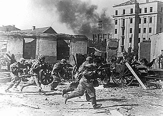 Mogilev Offensive - Troops of the 49th Army during the capture of Mogilev on 28 June 1944