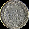 50 centimes Cérès 1888 Revers.png