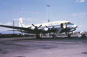United Airlines Flight 624 - A DC-6 similar to the aircraft involved in the accident