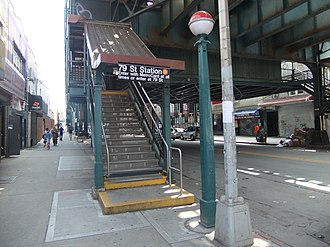 79th Street (BMT West End Line) - Eastern street stair