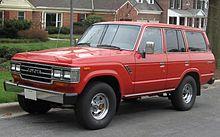 Una Toyota Land Cruiser dei primi anni ottanta