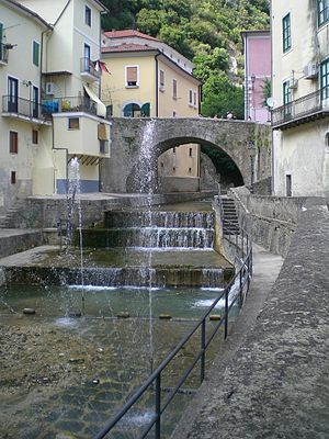 Campagna - Tenza river and bridge of piazza Guerriero
