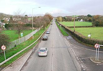A4050 road - Image: A4050 at Wenvoe