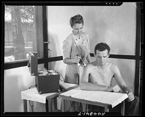 Physical therapy activities at the 20th Genera...