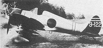 Mitsubishi A5M - An A5M2b with arrestor hook and drop tank