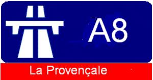 A8 autoroute - Image: A8 Marker