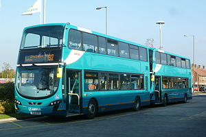 Arriva North West - Wright Gemini 2 bodied VDL DB300s in Speke in October 2011