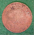 AUSTRALIA, MELBOURNE, ROBERT HYDE and COMPANY TRADE TOKEN 1857 a - Flickr - woody1778a.jpg