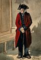 A Chelsea Pensioner standing in the hall at the Royal Hospit Wellcome V0012946.jpg