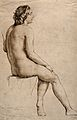 A female nude seen from behind. Pen and ink drawing by W. Mu Wellcome V0048998.jpg