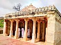 A stone mosque with white marble pillars - Bhodesar.jpg