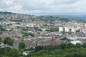 Keighley - Image: A view over Keighley (31st July 2010)