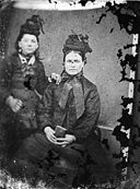 A woman and a young girl NLW3364688.jpg