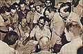 Abdelaziz negotiating Moshe Dyan 1948 Arabic WP.jpg