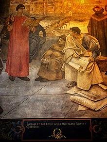 Abelard Teaching, Francois Flameng, Mural at the Sorbonne (Source: Wikimedia)