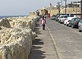 Acre waterfront with Leopold II Street Whale Memorial and bell tower.jpg