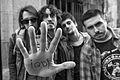 Actuales miembros del grupo de rock ¡Qué Desilusión!.jpg