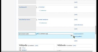 File:Adding pronunciation audio to Wikidata.webm