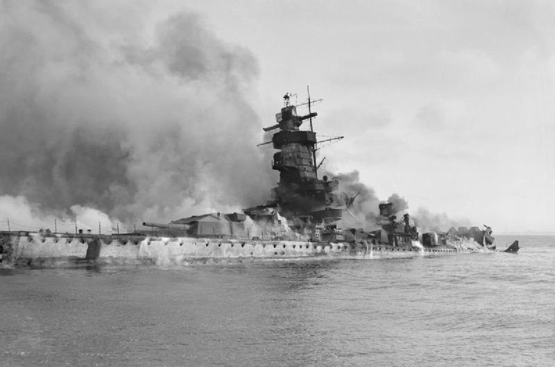 Admiral Graf Spee Flames